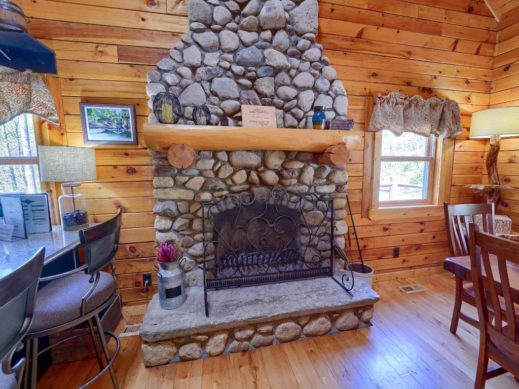 Ridgewater lodge fireplace
